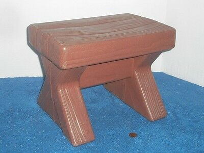 Brown Seat Stool Picnic Cottage Playhouse Outdoor Naturally Playful Fun Kitchen