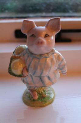 Early Beswick Beatrix Potter Little Pig Robinson BP2 Gold Oval
