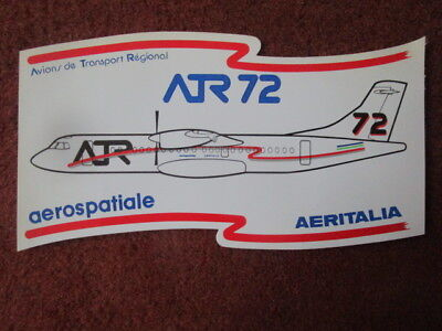 Autocollant Sticker Aufkleber Aerospatiale Aeritalia I Love Atr Avion Transport