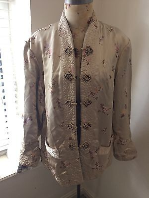 GENUINE VINTAGE reversable gold/ black embroidered chinese style jacket, SIZE M