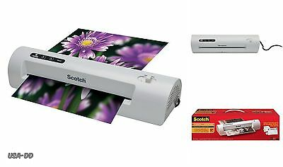 Scotch Thermal Laminator Machine 2 Roller System Laminating Pouches Home Office