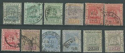 British Guiana 1889-1910 selection used (12 items)