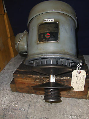 Bridgeport 1-1/2Hp 3Ph 2J-Head Spindle Drive Motor With Pulley