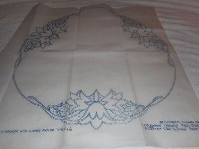 Large Vintage Embroidery Iron on Transfers-Briggs No.P621-D696- Bellflower.