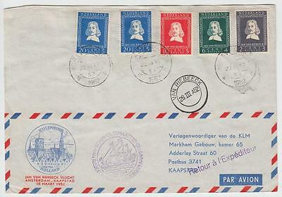 Netherlands-South Africa 1952 Van Riebeeck Special Flight Cover