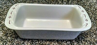Longaberger Pottery Small Loaf Woven Traditions Red - Very Nice!