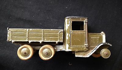 Vintage toy truck 1900's un-named metal & wood tipper truck