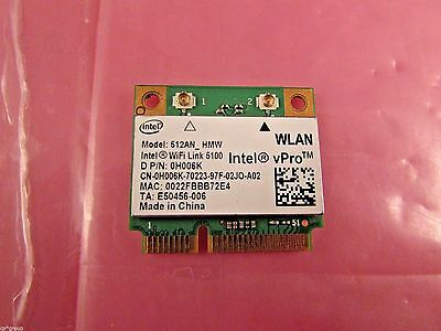 H006K - Dell Latitude E6400 E6500 E5400 Intel Wifi Link 5100 WLAN Mini-PCI Card