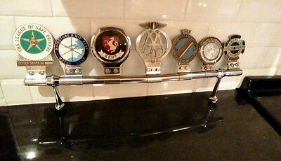 Classic car badge bar with badges