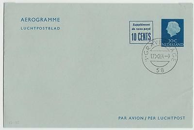 NETHERLANDS 1964 30c + 10c AIRLETTER CTO