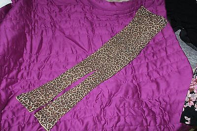 Leopard Print Footless Tights Size Large Worn Once
