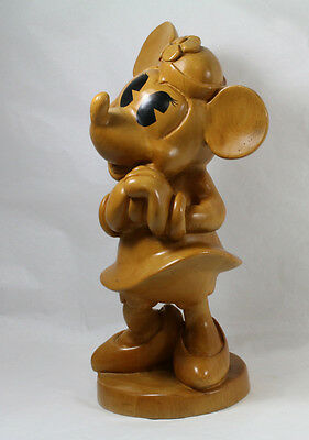RARE Disney Minnie Mouse Prototype Art Wood Figurine Sculpture Kappy Co. Mickey