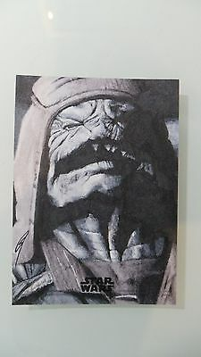 Topps Star Wars Rogue One Series 1 Pao By Gabe Farber 1/1 Artist Sketch Card