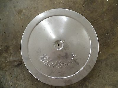 "Antique Edelbrock Chrome 14"" Air Cleaner Assembly"