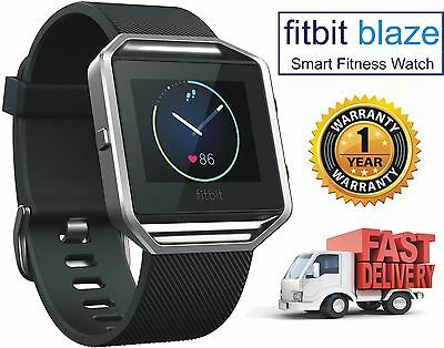"""NEW Fitbit - Blaze Smart Fitness Action Watch (Large 6.7"""" to 8.1"""") - Black"""