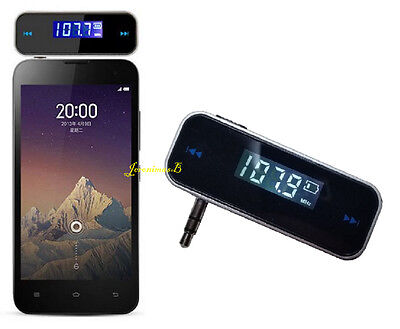 Wireless FM Transmitter 3.5mm jack in Car Radio Music for mobile iPhone HTC Sony