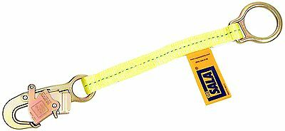 """DBI/Sala, 1231117 D-Ring Extension With Self Locking Snap Hook X 18"""", Yellow"""