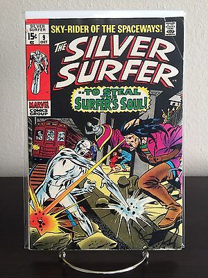 The SILVER SURFER #9 - 3rd Mephisto Appearance 1969 Stan Lee Marvel Comics