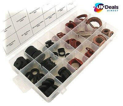 141pc Assortment Box of Plumbers Washers Tap Sealing Shower Hose Rubber Washer