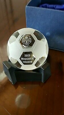 inaugural Seattle Sounders glass soccer ball 2009