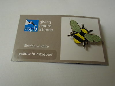 Yellow Bumblebee For R.S.P.B. Give Nature A Home Pin Badge BNOC