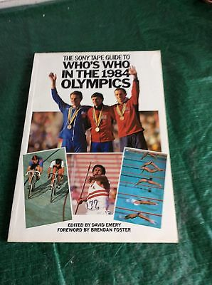 Sony Tape Guide To Who's Who In 1984 Olympics Book