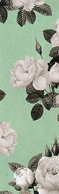 Bunch of White Roses Decorative Paper,  laminated bookmark