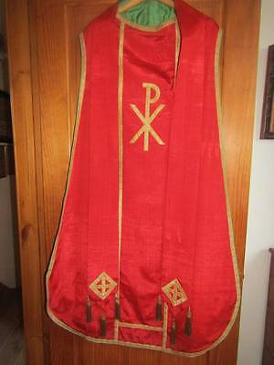 Ecclesiastical Chasuble Vestment & Stole Gold Thread Tassels