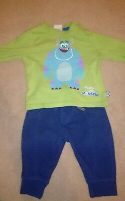 Monsters Inc, Sully outfit, tshirt. disney baby. 0-3 months.