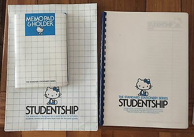 Hello Kitty Sanrio 1976 Rare Studentship Stationery among First items by Sanrio