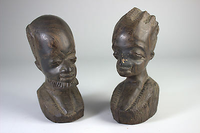 Pair Of African Carvings. Male And Female