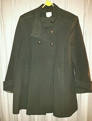 Green Isabella Oliver Maternity Pea Coat -Size14