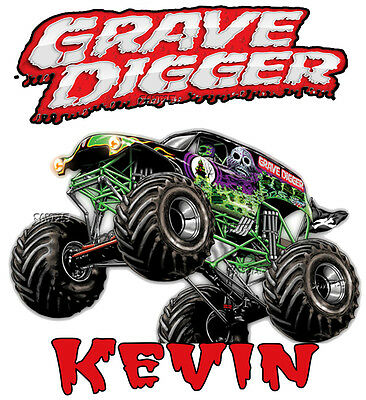 New Grave Digger Monster Truck JAM 2017 SHOW Personalized  T Shirt Birthday Gift