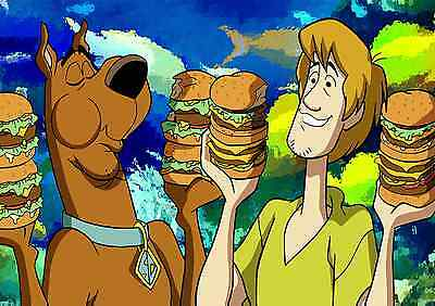 Scooby Doo - A4 Glossy Poster -TV Film Movie Free Shipping #177