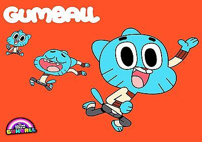Amazing World of Gumball - A4 Glossy Poster -TV Film Movie Free Shipping #178