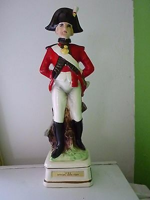 Ceramic British Red Coat 1792 officer 45th Foot whisky Decanter