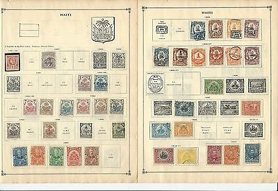 Haiti 1881-1963 Collection on Scott International Pages, 28 Pages