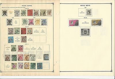 Hong Kong 1862-1963 Collection on Scott International Pages, 4 Pages