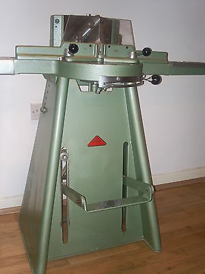 morso mitre cutter foot operated, with spare blade and left extension arm
