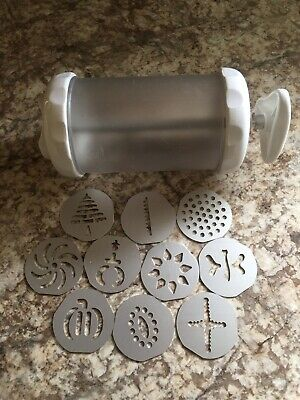Pampered Chef Cookie Press 1526 9 Discs