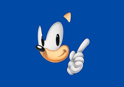 Sonic The Hedgehog - A4 Glossy Poster - TV Film Movie Free Shipping #709