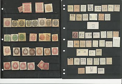 Switzerland Odd-Ball Collection, Perfins, Cut Envelopes, Pairs, Nice Lot, 24 Pgs
