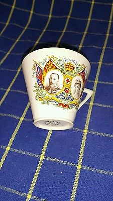 George V & Mary Silver Jubilee 1910-1935 Celebration Mug~Vgc