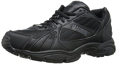 Magnum MUST LOW Mens Black Lace Up Slip Resistant Comfort Work Shoes