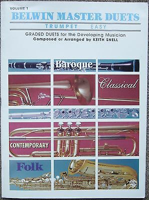 Belwin Master Duets, Volume 1, Trumpet (Easy) Graded Duets, Music Book