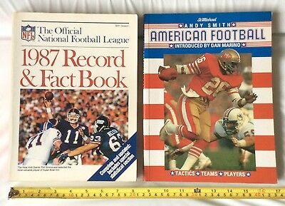 1987 NFL Official Record & Fact Book + Andy Smith American Football National