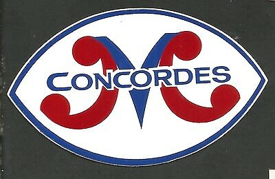 """Vintage Cfl Football Decal: Montreal Concordes, 3"""" X 45"""", Color, Peel Off Back"""