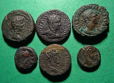 *Tater* 6 Choice Roman Provincial Bronze Coins 14 to 21 Millimeters