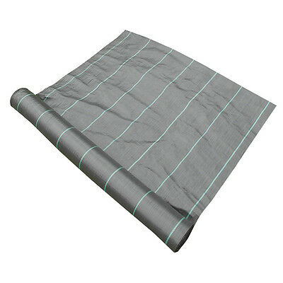 1.5m x 200m Yuzet Weed Control Ground Cover Membrane Landscape Fabric Heavy Duty