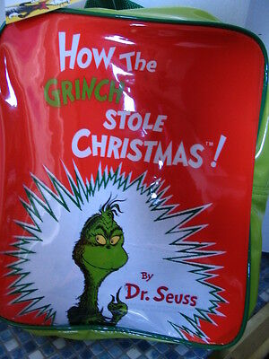 Dr Seuss Grinch Who Stole Christmas Backpack - New!!
